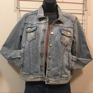 NWT Ryan Michael Jean Jacket sz M
